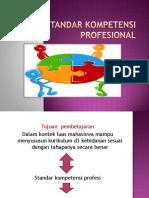 1. Standar Kompetensi Profesinal