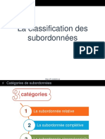 Classification Des Subordonnees