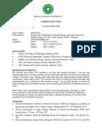 CV Dr Aysha Habib Khan