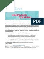 Gacetilla_Concurso Innovacion Cultural