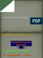 Curs 2 Asepsia Si Antisepsia