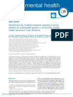 Yang Et Al. (2017) RedeAmericas - Building Research Capacity in Young Leaders for Mental Health in LA