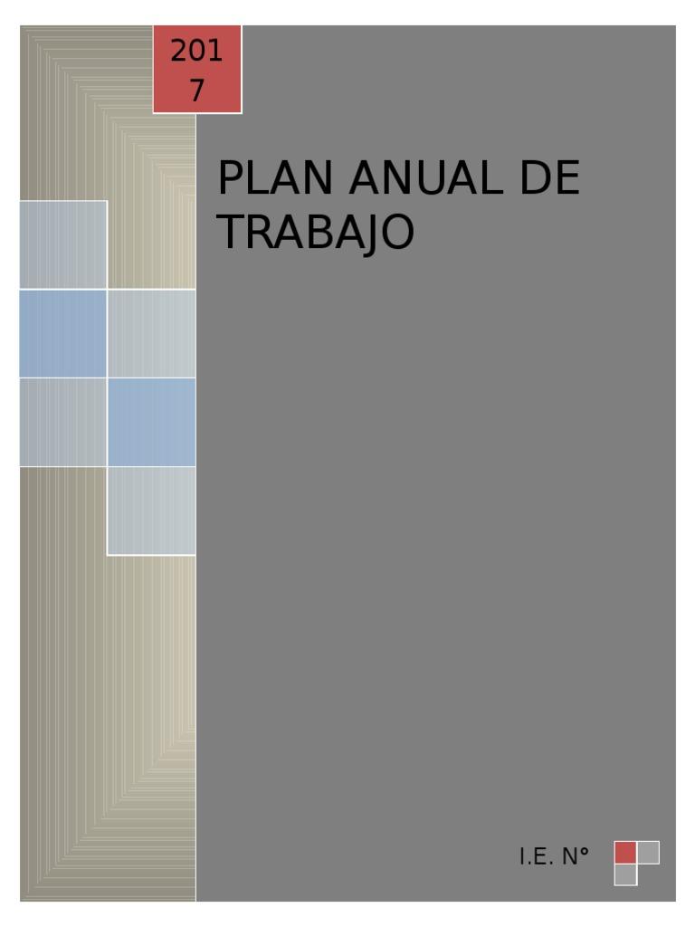 Plan Anual de Trabajo 2017 para Ed. Primaria (modelo)