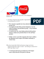 Coke and Pepsi  #16 Discussion Case and suggested solution contents.doc