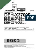 Pioneer Deh-x3700s x3700ui x3710ui Crt5562 Car Audio
