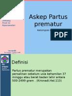 Partus Prematur Kel 6