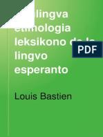 Naŭlingva etimologia leksikono de la lingvo esperanto - Louis Bastien