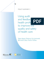 Using audit and feedback to health professionals to improve the quality and safety of health care