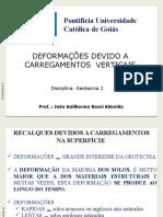 Aulas Geotecnia II_ Deformacoes devido a Carregamentos.pptx
