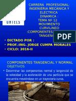 Estatica Dinamica 2015-i Semana 12 Componentes Tangencial y Normal[1]