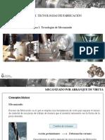 Tema 01. Tecnologías de Mecanizado