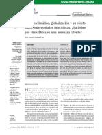 Cambio climático, globalización y su efecto sobre enfermedades infecciosas. ¿La fiebre por virus Ébola es una amenaza latente?