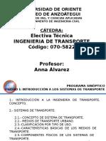ING DE TRANSPORTE