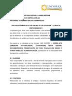 Protocolo Trabajo de Grado Emprendimiento