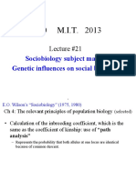 Genetic Influences on Social Behaviour
