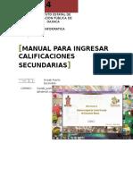 Manual Calificaciones 2014 Secundarias