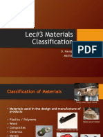 Lecture 3 - Classification of Materials