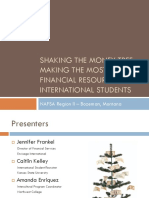 Shaking the Money Tree-Financial Resources for Intl Students