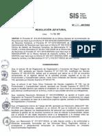 Resolución Jefatural N° 024-2017/SIS