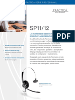 Folleto Diadema Plantronics SP11