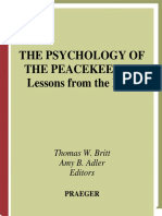 Psychology of Peacekeeper