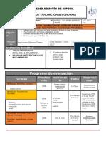 Plan y Programa Evaluacion 3º