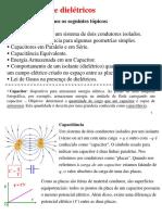 Capacitância e Dielétricos