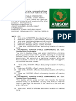 AMISOM to Help Construct Military Training Facility for Somali National Army