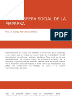 La Atmósfera Social de La Empresa
