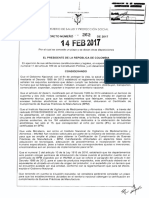 Decreto 262 Del 14 Febrero de 2017