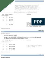 Prova Objetiva - Matemática Financeira - Nota 100