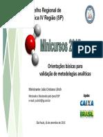 Minicurso Validacao Apostila Site