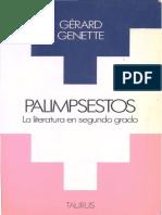 Genette Gerard - Palimpsestos La Literatura en Segundo Grado