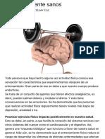 Cuerpo y mente sanos | Facundo Manes