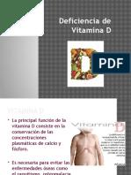 Deficiencia de Vitamina D