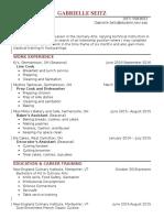 gabrielle seitz resume 2016
