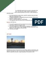 API 620 Comparison
