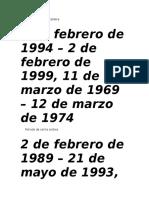 Periodos de Presidentes