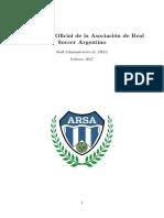 Reglamento Oficial de ARSA
