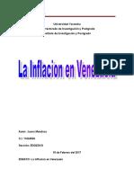 Ensayo de La Inflacion en Venezuela