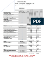 plant sale 2017 order form