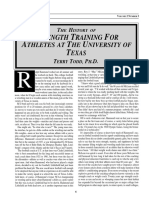 History of Strength Training at U of Texas