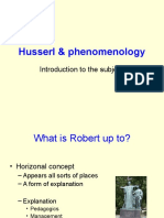 Husserl & Phenomenology