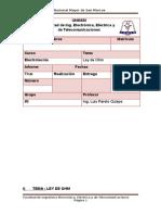 Informe 4- Ley de Ohm- Electrotecnia