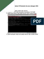 Remote Access Dengan SSh