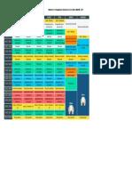 Modelo de Cronograma de Estudos Do Curso Enem Manhã - 2017