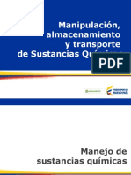 Almacenamiento, Manipulación y Transporte de SQ