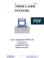 Laser Cutter Manual for NOVA24