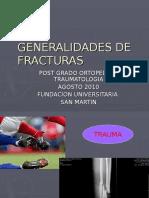 Generalidades de Fracturas y Fx Abiertas Fusm