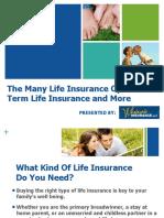 The Many Life Insurance Options